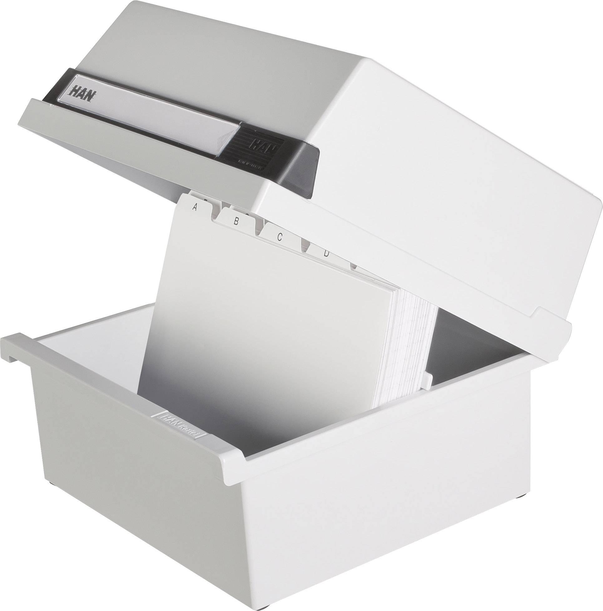 HAN Škatla za 800 indeksnih kartic/965-11 A5 horizontalen svetlo siva, plastika