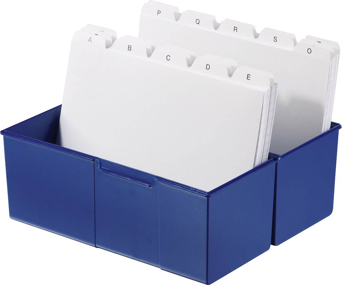 HAN Škatla za kartice DIN A5 horizontalen/975-14 modra, plastika