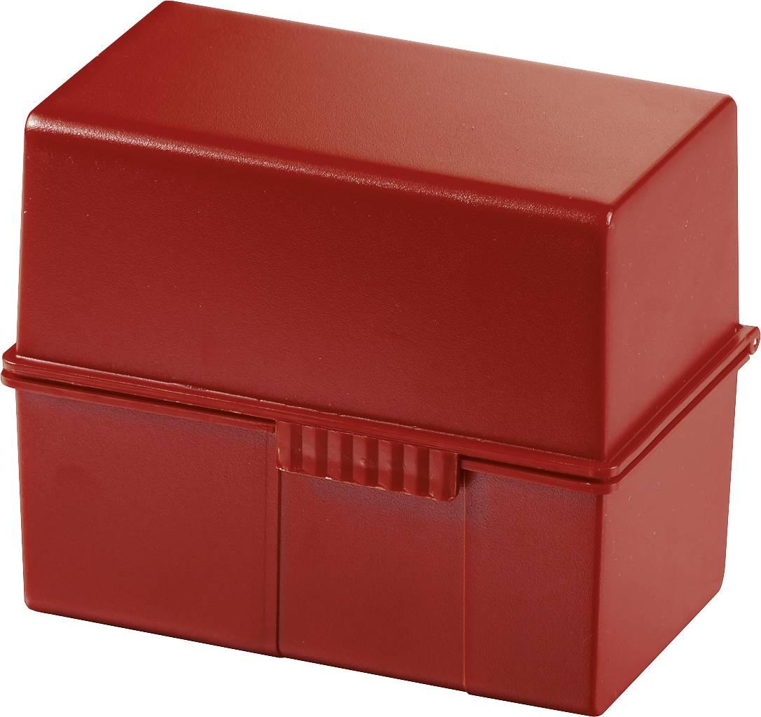 HAN Škatla za kartice DIN A6 horizontalen/976-17 rdeča, plastika