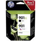 HP črnilo 901XL + 901 original kombinirano pakiranje črna, cianova, magenta, rumena SD519AE kartuše, komplet 4 kosov