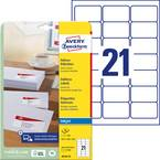Avery-Zweckform J8160-25 etikete 63.5 x 38.1 mm papir bela 525 kos trajno nalepke za naslove, univerzalna etiketa tinto