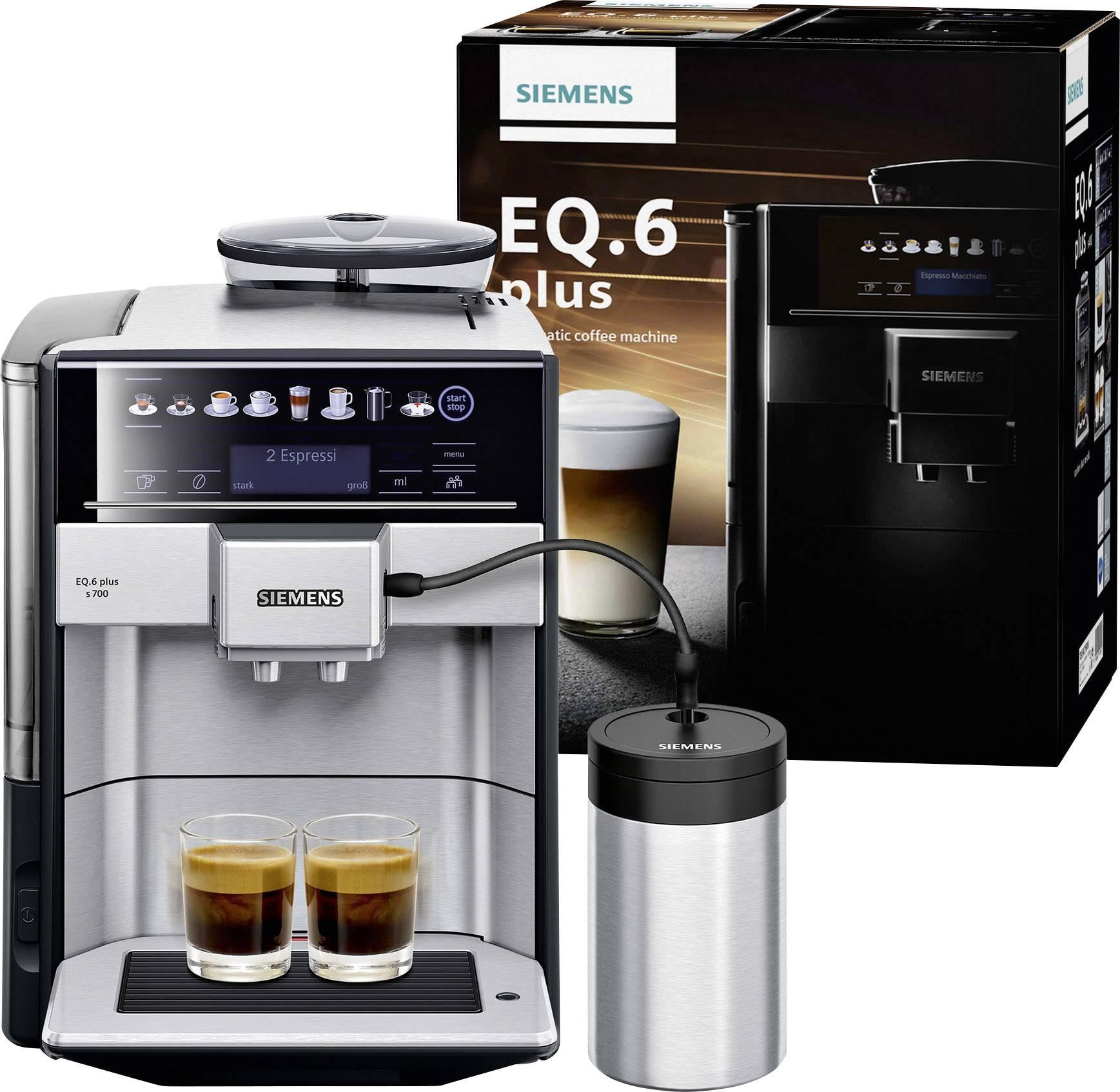 Siemens EQ 6 plus S700 TE657M03DE kavni avtomat legirano jeklo