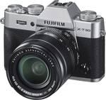 Fujifilm X-T30 XF18-55 mm sistemska kamera 26.1 Mio. pikslov srebrna zaslon na dotik, elektronsko iskalo, nagibni zaslon, WiFi, nastavek za bliskavico, Bluetooth