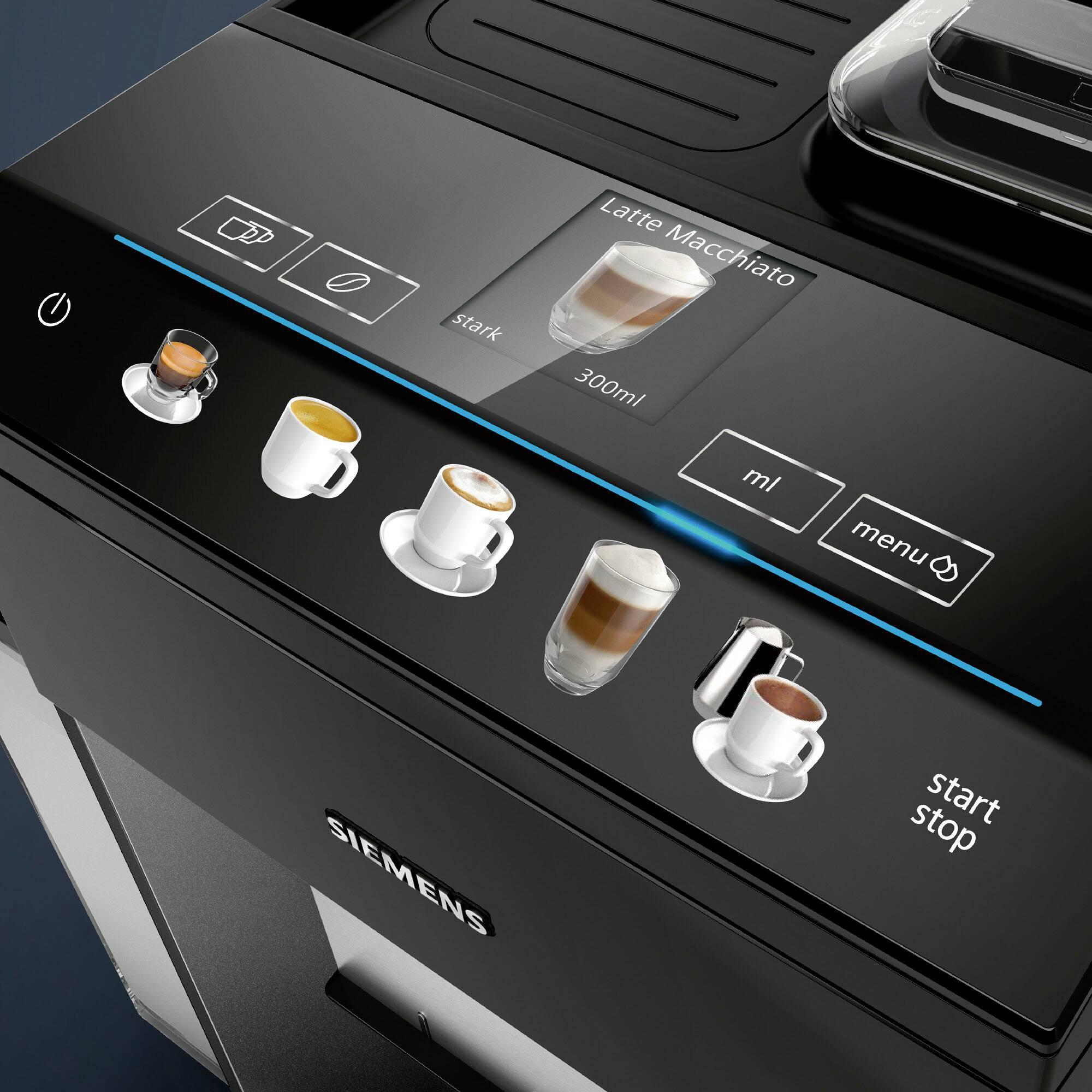 Siemens EQ.500 integral TQ505D09 kavni avtomat črna
