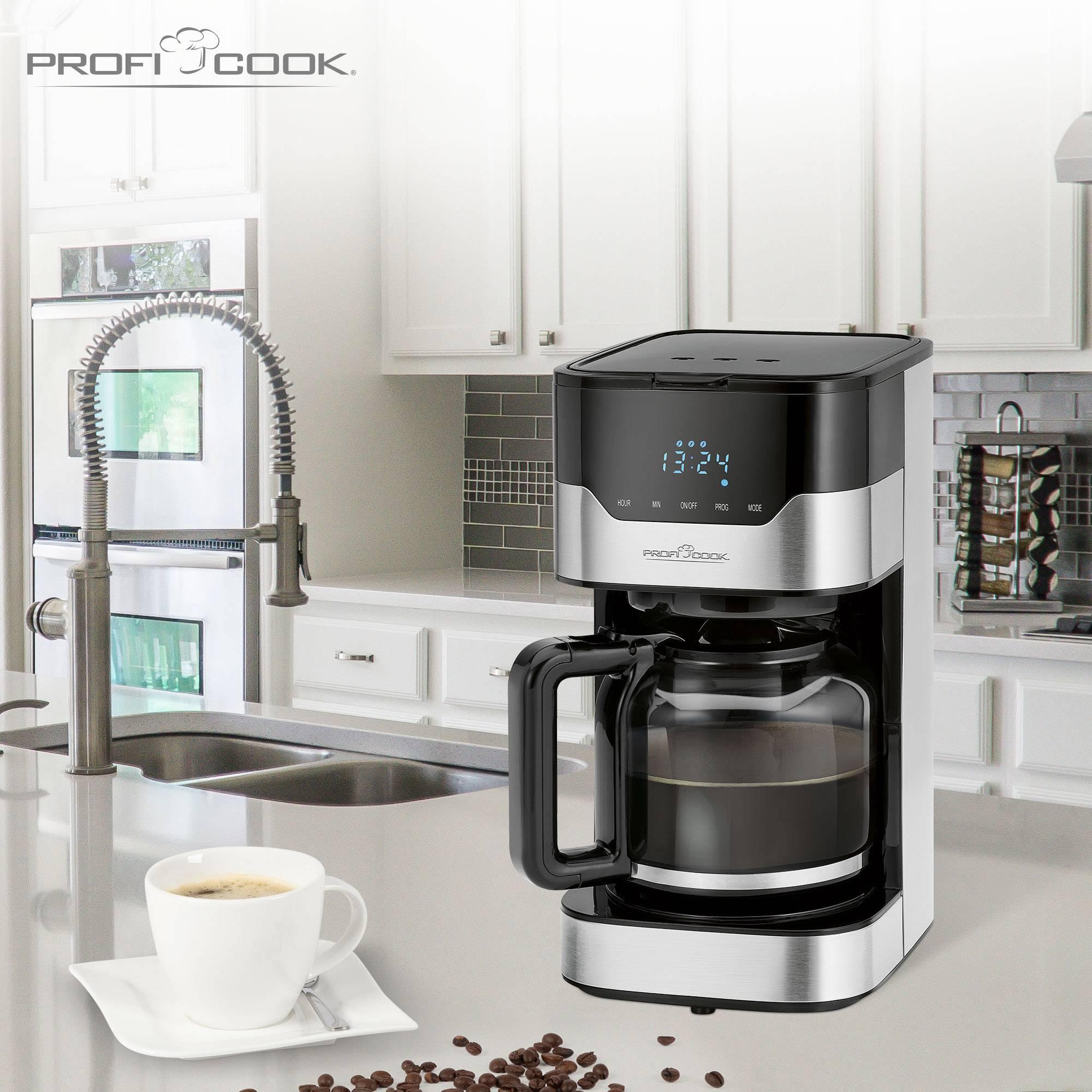 Profi Cook PC-KA 1169 kavni aparat legirano jeklo, črna  Kapaciteta skodelice=14 stekleni vrč