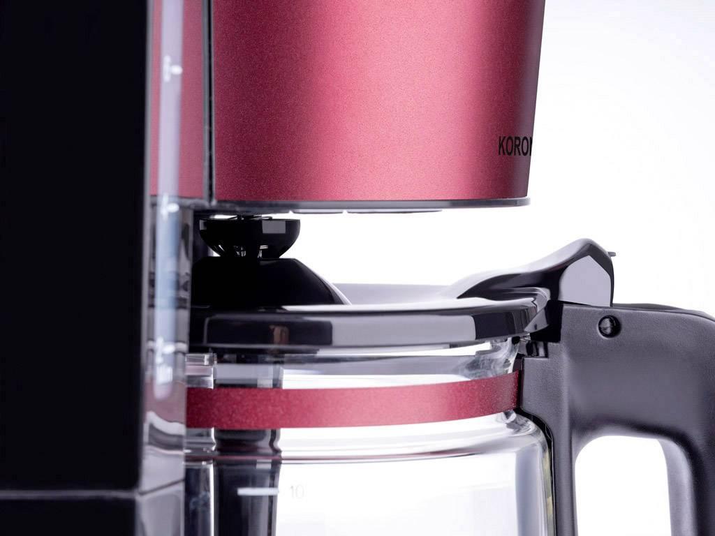 Korona 10340 kavni aparat rubinasto rdeča (mat)  Kapaciteta skodelice=10
