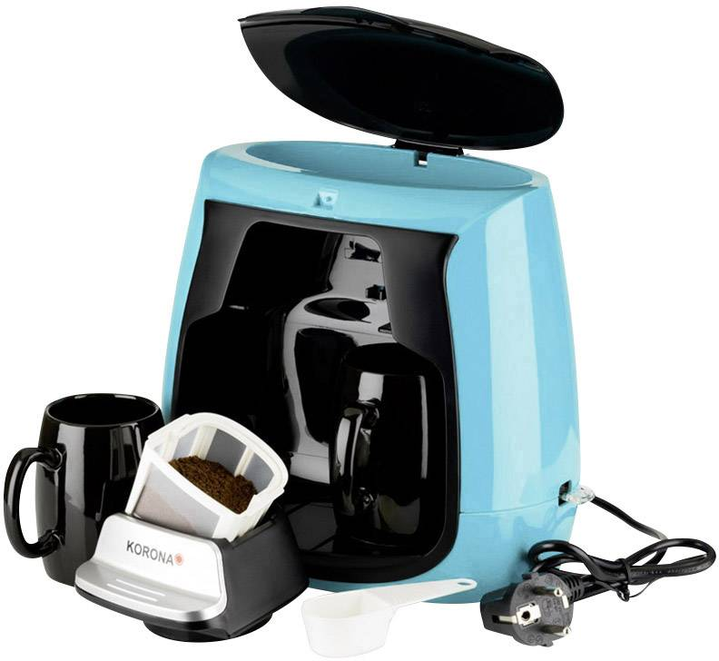 Korona 12207 kavni aparat svetlo modra, črna  Kapaciteta skodelice=2