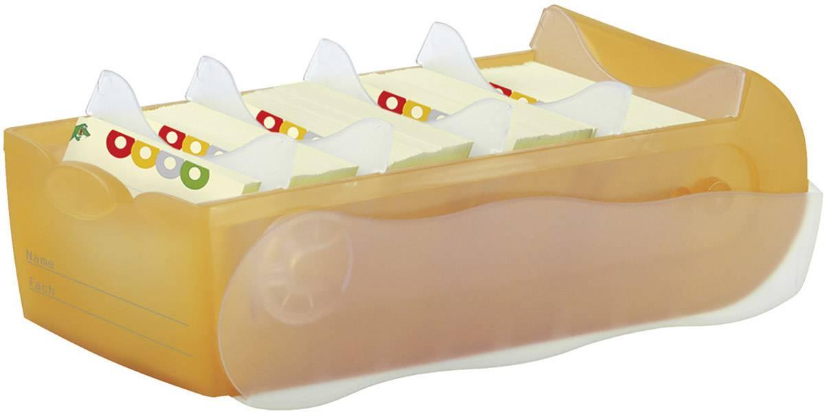 HAN CROCO 997-613 škatla za kartice oranžna, translucentna Maks. število kartic: 900 kartic din a7 prečno vključ. s 100