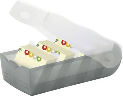 HAN CROCO 997-693 škatla za kartice siva, translucentna Maks. število kartic: 900 kartic din a7 prečno vključ. s 100 črt