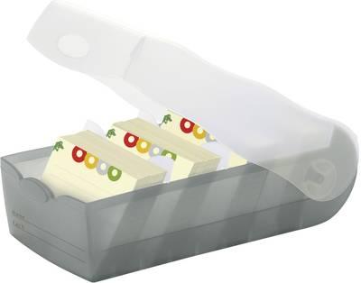 HAN CROCO 998-693 škatla za kartice siva, translucentna Maks. število kartic: 500 kartic din a8 prečno vključ. s 100 črt
