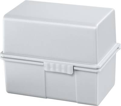 HAN  978-11 škatlica za kartice svetlo siva  din a8 prečno jekleni tečaj, pokrov, uporabljiv tudi kot dodatno korito