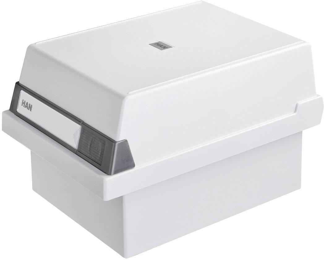 HAN  967-11 škatla za kartice svetlo siva Maks. število kartic: 800 kartic din a7 prečno