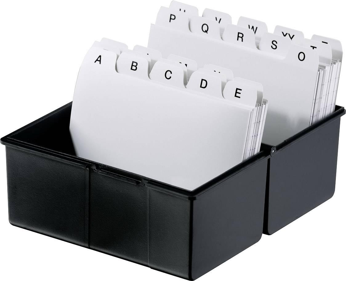 HAN  978-13 škatlica za kartice črna  din a8 prečno jekleni tečaj, pokrov, uporabljiv tudi kot dodatno korito
