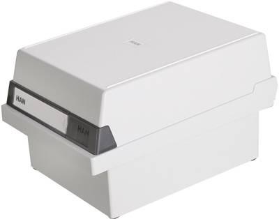 HAN  966-11 škatla za kartice svetlo siva Maks. število kartic: 800 kartic din a6 prečno