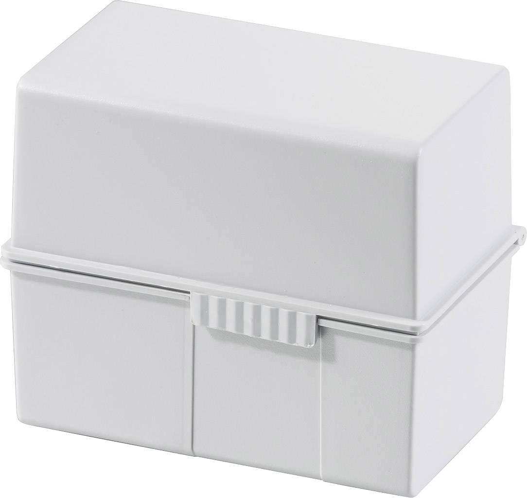 HAN  977-11 škatlica za kartice svetlo siva Maks. število kartic: 300 kartic din a7 prečno jekleni tečaj, pokrov, uporab