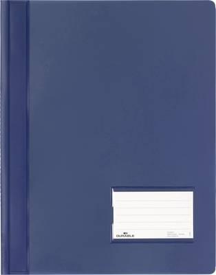 Durable DURALUX 268007 spenjalnik temno modra din a4+ markirno okno (90 mm x 57 mm), zaščita pred praskami, notranji žep