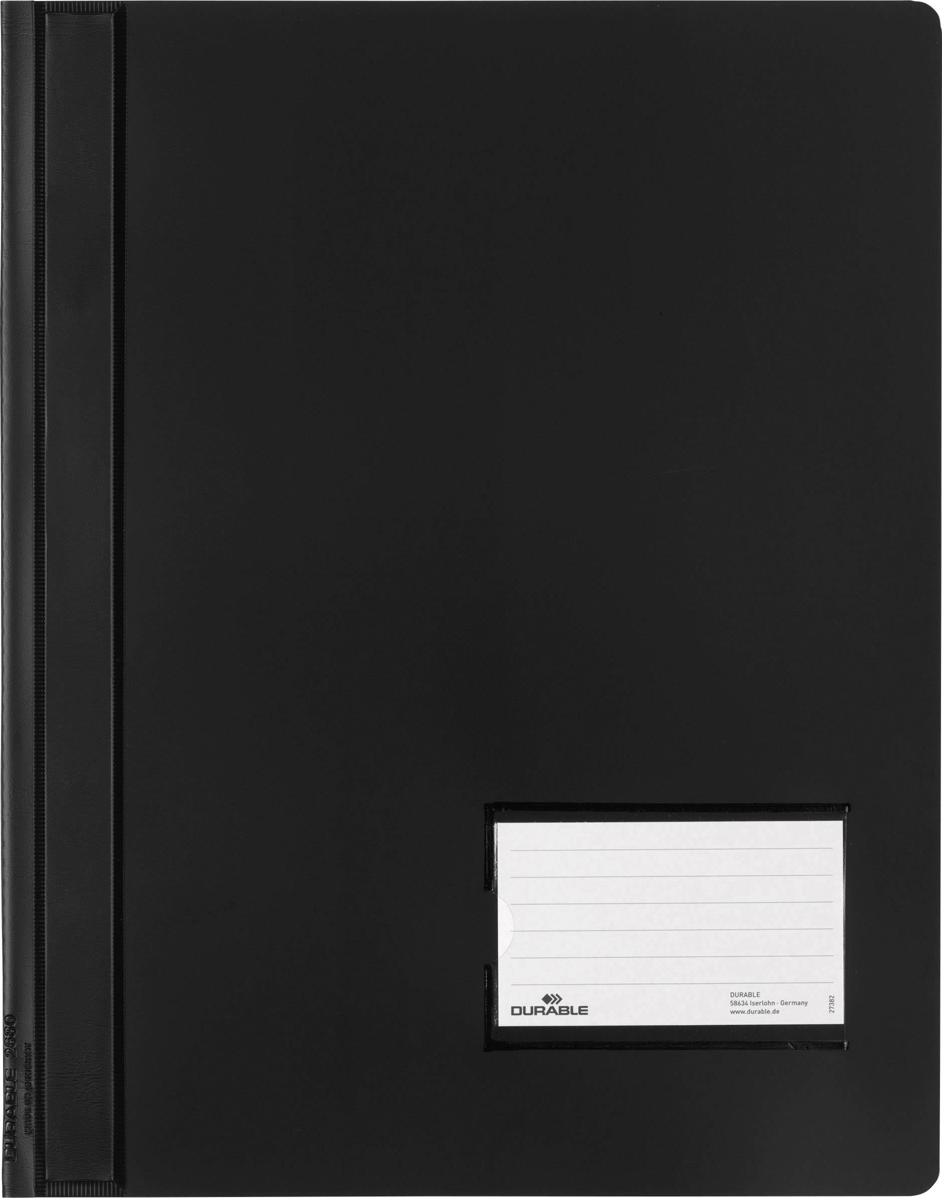 Durable DURALUX 268001 spenjalnik črna din a4+ markirno okno (90 mm x 57 mm), zaščita pred praskami, notranji žep (na za