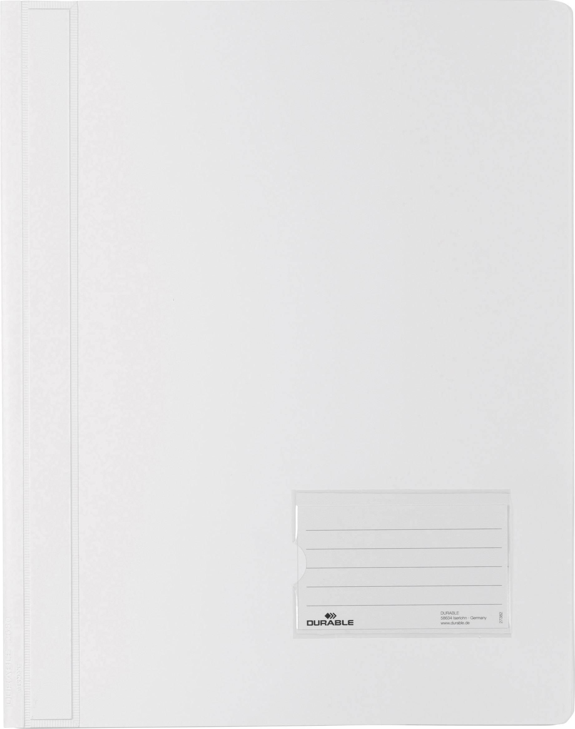 Durable DURALUX 268002 spenjalnik bela din a4+ markirno okno (90 mm x 57 mm), zaščita pred praskami, notranji žep (na za