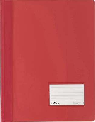 Durable DURALUX 268003 spenjalnik rdeča din a4+ markirno okno (90 mm x 57 mm), zaščita pred praskami, notranji žep (na z