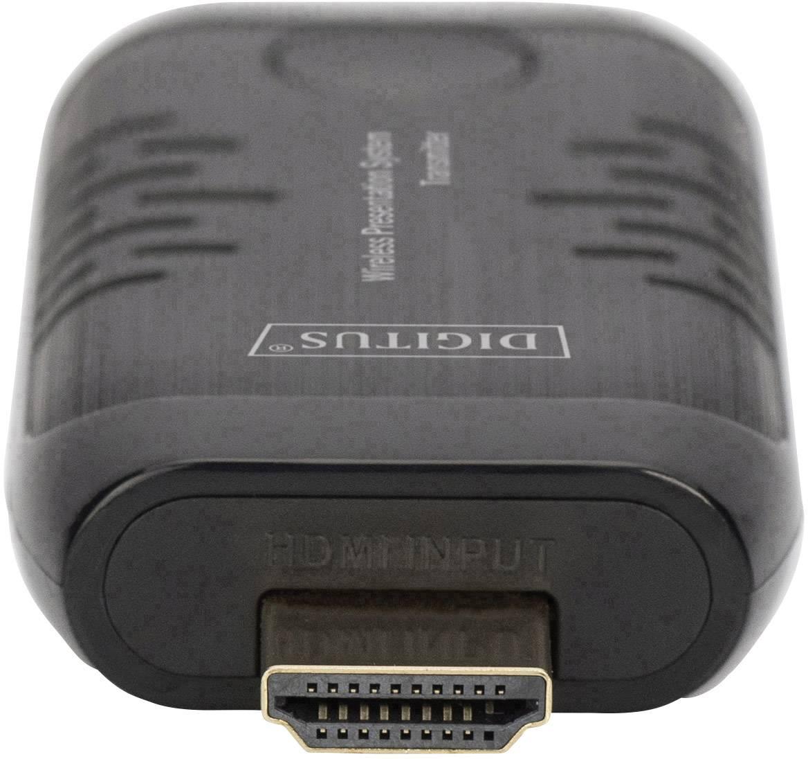 Digitus DS-55307 HDMI naprava za brezžični prenos (oddajnik) 30 m 60 Hz 1920 x 1080 piksel hd avdio, vgrajeni LED zaslon