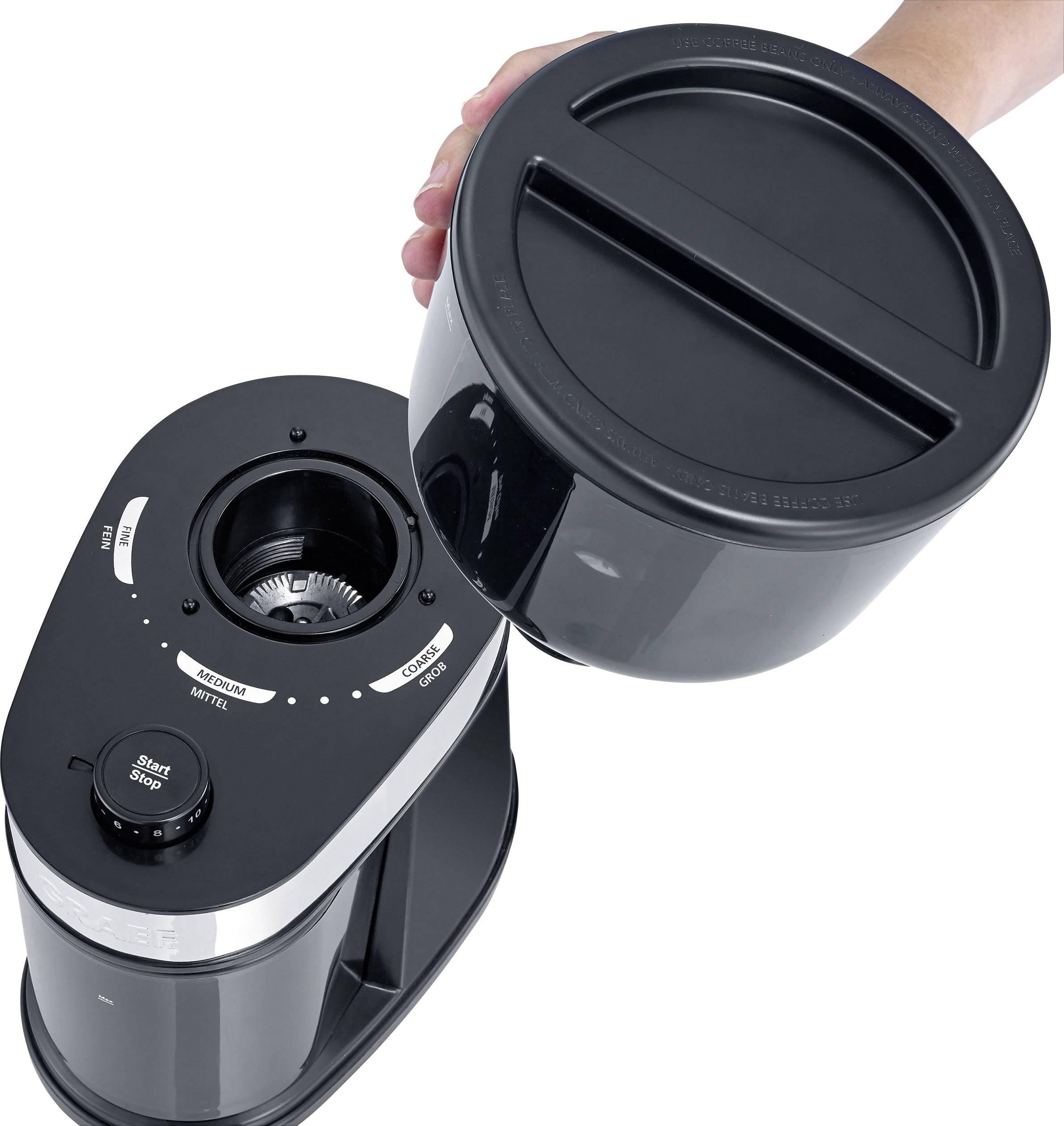 Graef CM202EU CM202EU mlinček za kavo črna nerjaveči mlinček s ploščatim rezilom