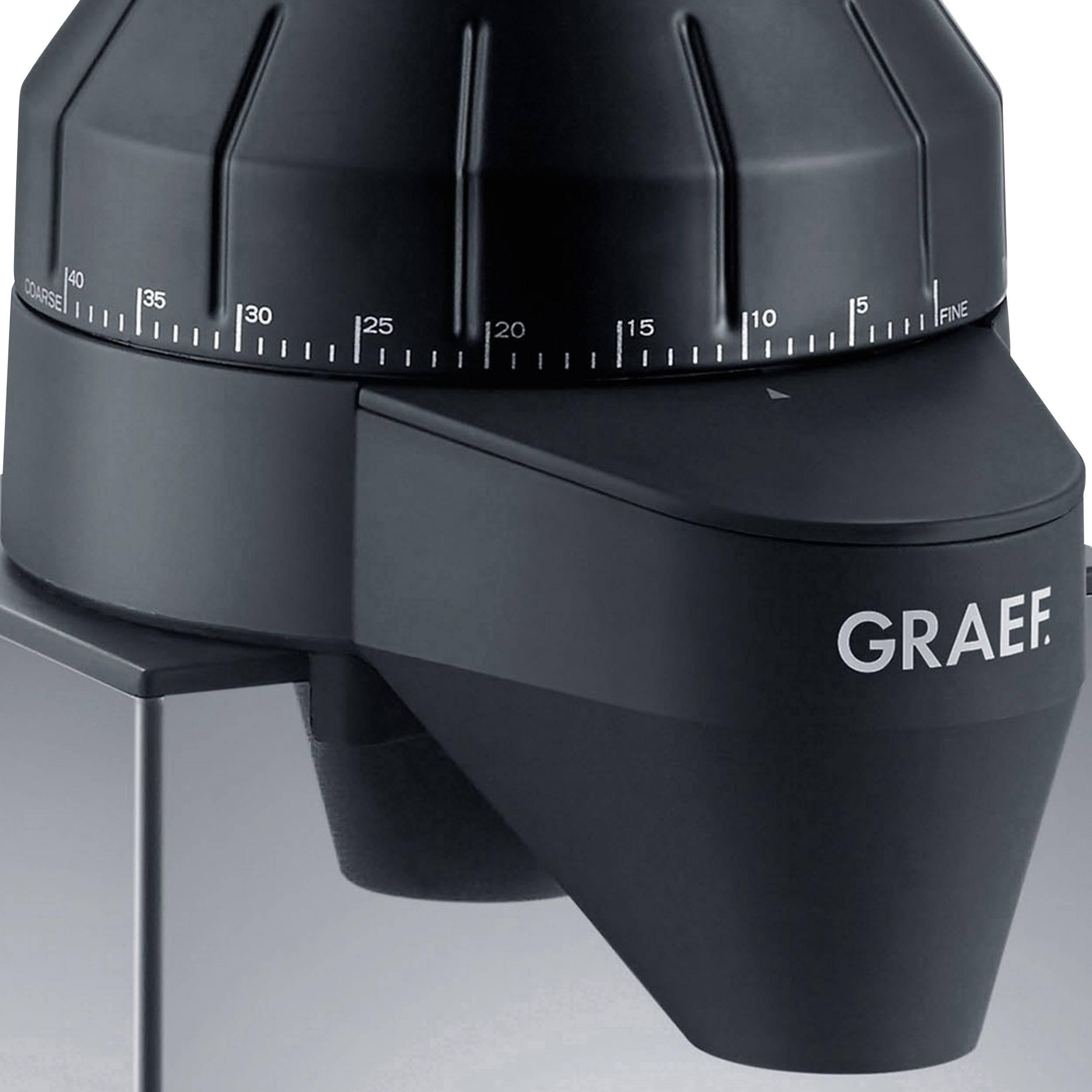 Graef CM820EU CM820EU mlinček za kavo legirano jeklo, črna jekleni stožčasti mlinček