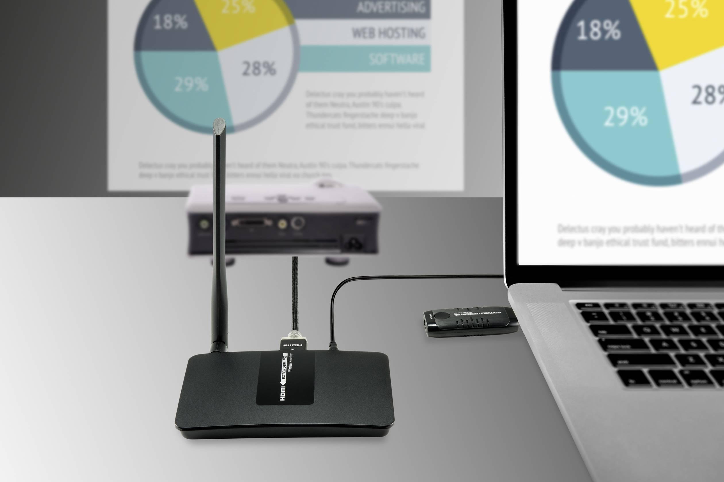 SpeaKa Professional  HDMI naprava za brezžični prenos (komplet) 15 m 5 GHz 1920 x 1080 piksel hd avdio