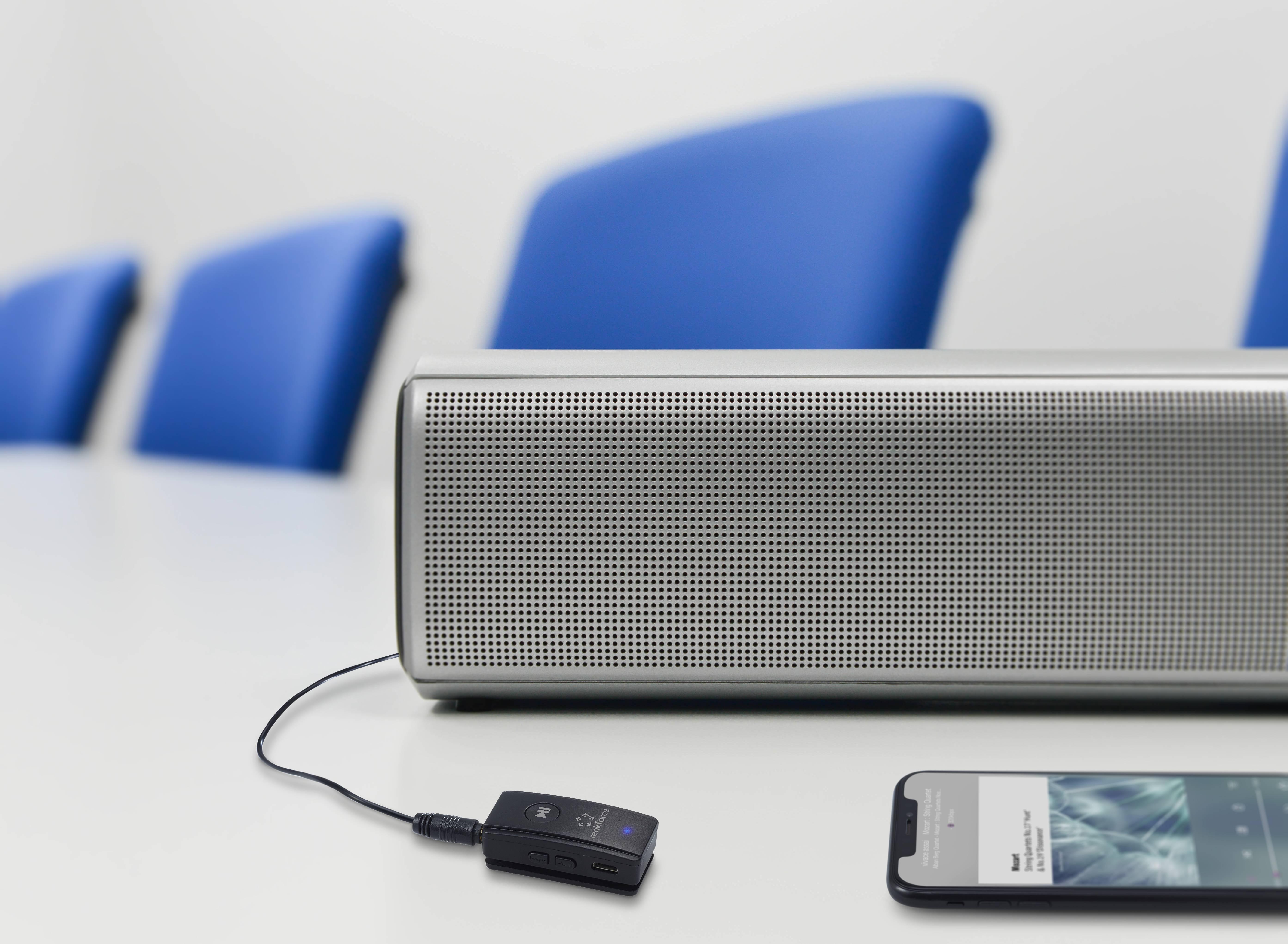 Renkforce RF-BAR-100 Bluetooth® sprejemnik glasbe Bluetooth: 4.2 10 m