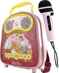 X4 Tech Bobby Joey Casey Music Bibi & Tina naprava za karaoke Bluetooth, USB vklj. mikrofon roza