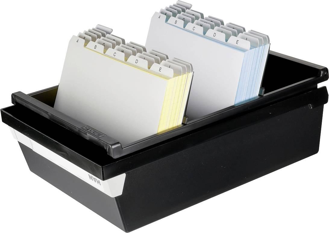 HAN  955-13 škatla za kartice črna Maks. število kartic: 1.300 kartic din a5 prečno