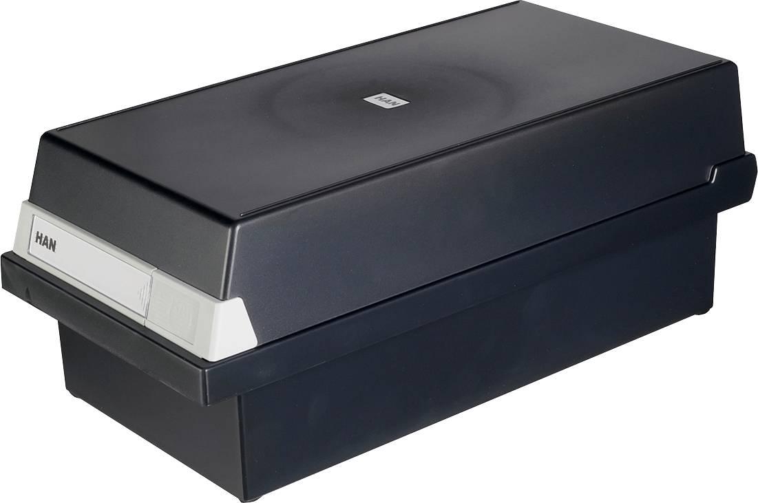 HAN 956-13 956-13 škatla za kartice črna Maks. število kartic: 1.300 kartic din a6 prečno