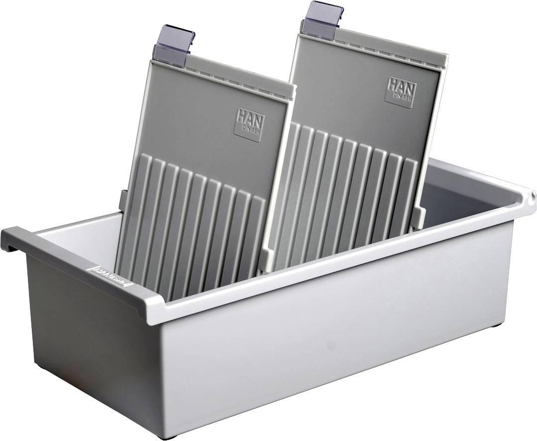 HAN  955-0-1-11 nosilec za kartice svetlo siva Maks. število kartic: 1.300 kartic DIN A5 pokončno