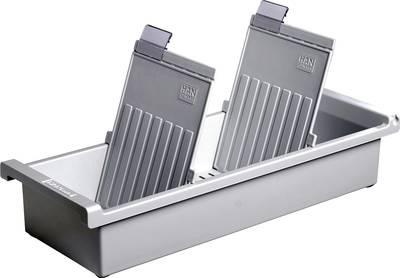 HAN  956-0-1-11 nosilec za kartice svetlo siva Maks. število kartic: 1.300 kartic DIN A6 pokončno