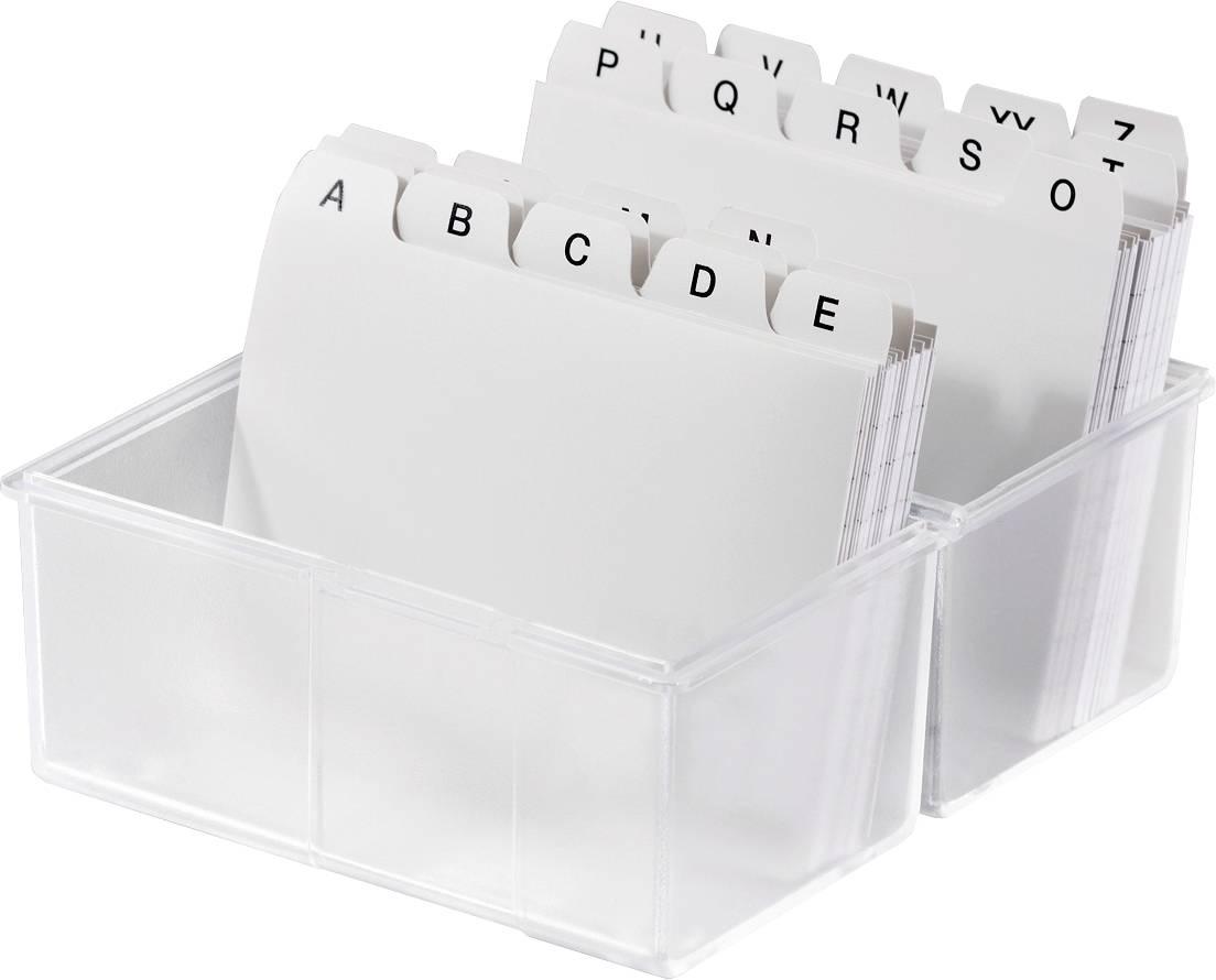 HAN DIN A6 976-63 škatlica za kartice translucentna, čista Maks. število kartic: 400 kartic din a6 prečno