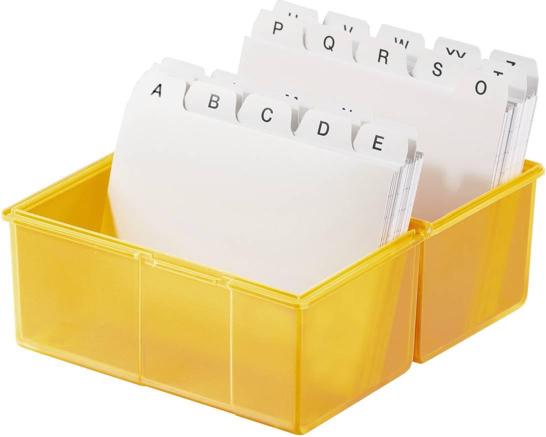 HAN SIGNAL 976-71 škatlica za kartice oranžna Maks. število kartic: 400 kartic din a6 prečno