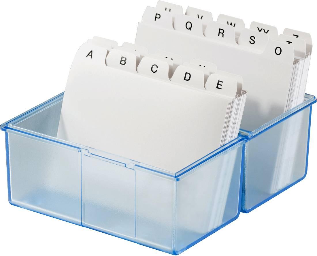 HAN DIN A8 979-64 škatlica za kartice translucentna, modra Maks. število kartic: 200 kartic din a8 prečno vključ. s 100