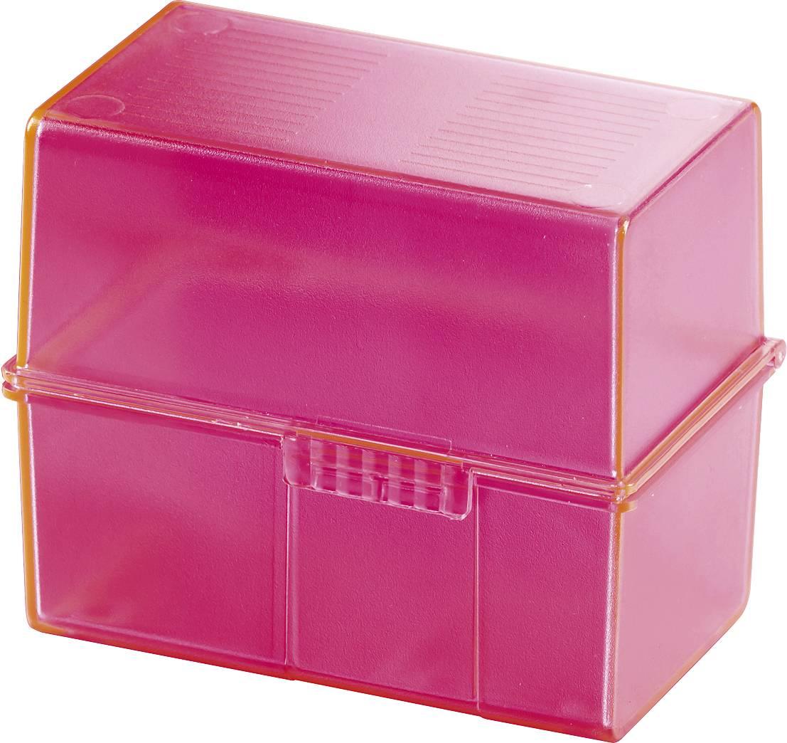HAN SIGNAL 979-76 škatlica za kartice roza Maks. število kartic: 200 kartic din a8 prečno vključ. s 100 črtastimi kartic