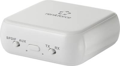 Renkforce  RF-BTR-200 Bluetooth® glasbeni oddajnik/sprejemnik Bluetooth: 5.0 20 m vgrajena akumulatorska baterija