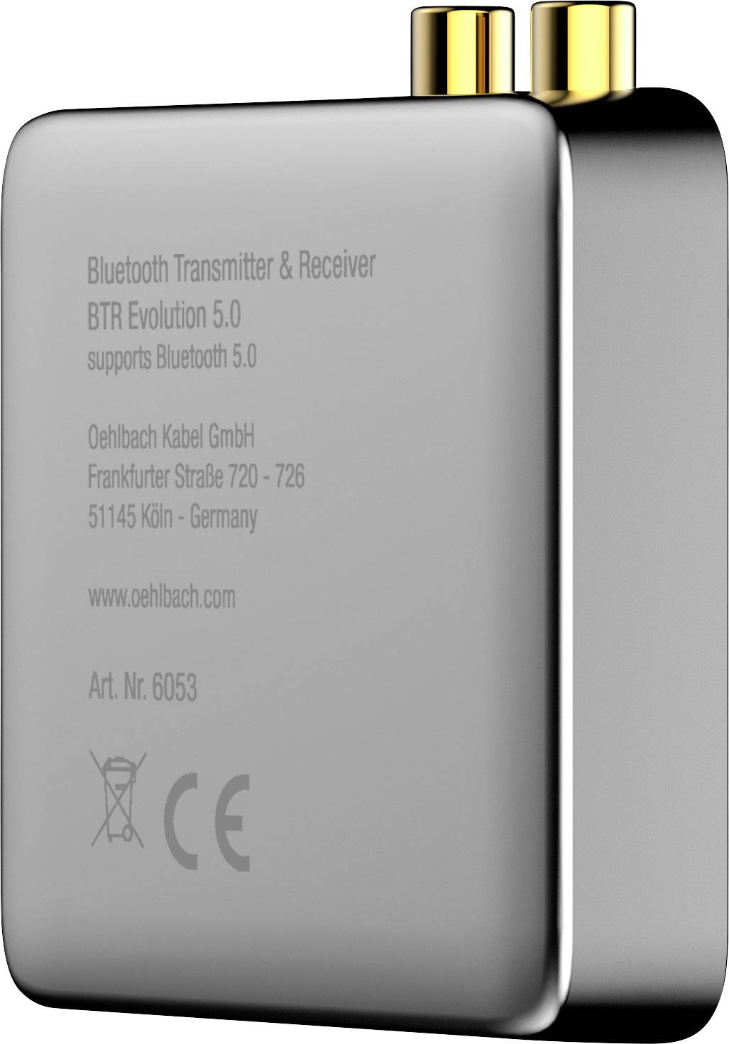 <br>  Oehlbach<br>  BTR Evolution 5.0<br>  Bluetooth® glasbeni oddajnik/sprejemnik<br>  Bluetooth: 5.0<br>  Domet (maks.