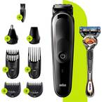 Braun MGK5260 strižnik za lase, strižnik za brado, brivnik, strižnik za telesne dlačice, precizni strižnik pralni črna