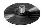 Gumijasta brusilna plošča za kotno brusilko, pritrdilni sistem z ježki, 125 mm D = 125 mm
