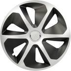 Okrasni pokrovi za platišča Rocco R15 srebrna/črna 4 kosi cartrend