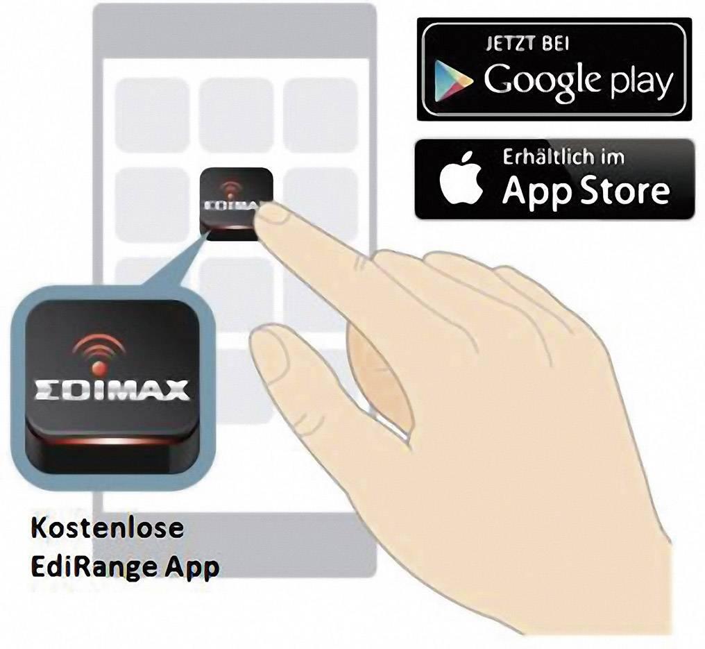 WLAN Repeater 300 MBit/s 2.4 GHz EDIMAX EW-7438RPn Mini z EdiRange aplikacijo