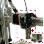 Whadda Ekstruder z 0,35 mm šobo in neposrednim pogonom K8203 Primerno za (3D tiskalnik): velleman k8200