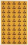 Wolfgang Warmbier esd logotip 50 kos rumena, črna (D x Š) 30 mm x 25 mm 2850.3025 samolepilna
