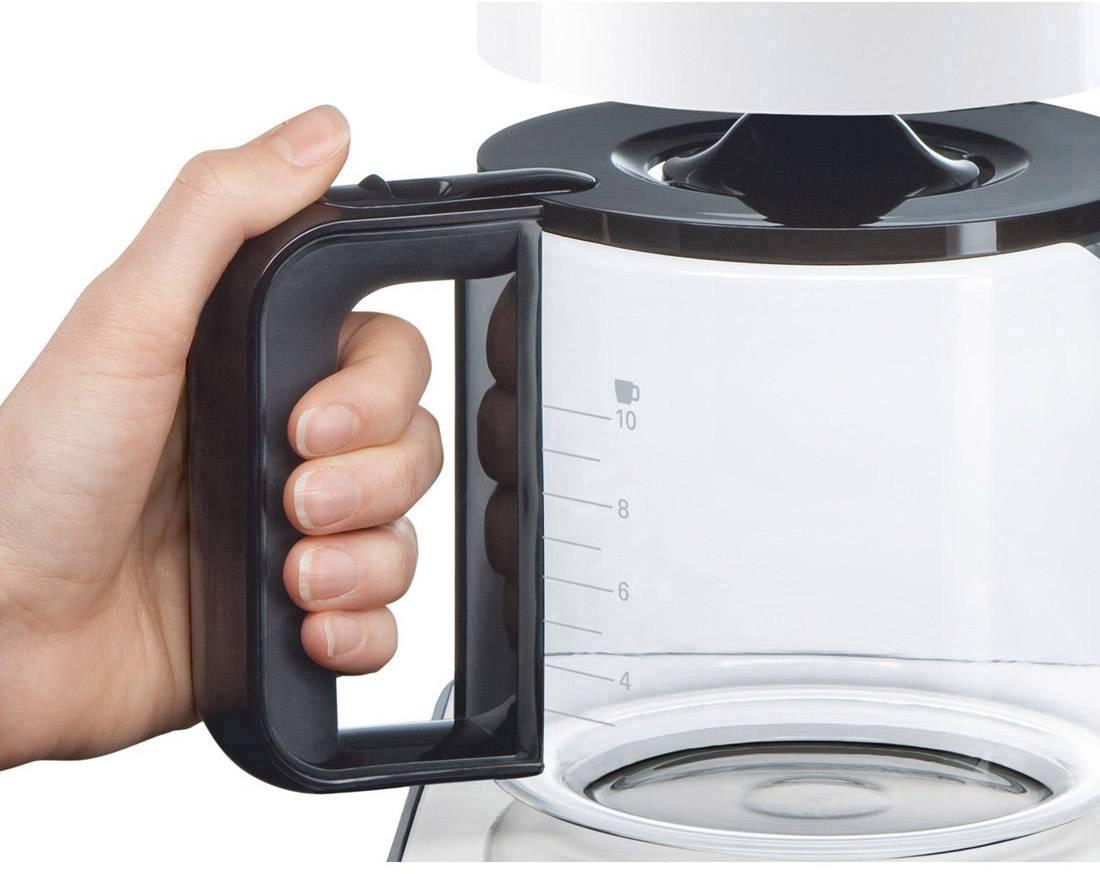 Bosch Haushalt TKA8011 kavni aparat bela, antracitna  Kapaciteta skodelice=10 stekleni vrč, toplotna funkcija