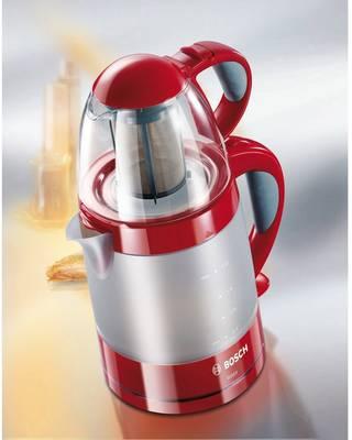 Bosch Haushalt TTA2010 kuhalnik čaja rdeča, svetlo siva