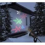 LED projektor, snežinke RGB LED Polarlite črne barve
