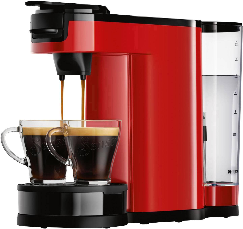 SENSEO® New Switch HD6592/80 kavni aparat rdeča s funcijo filter kave