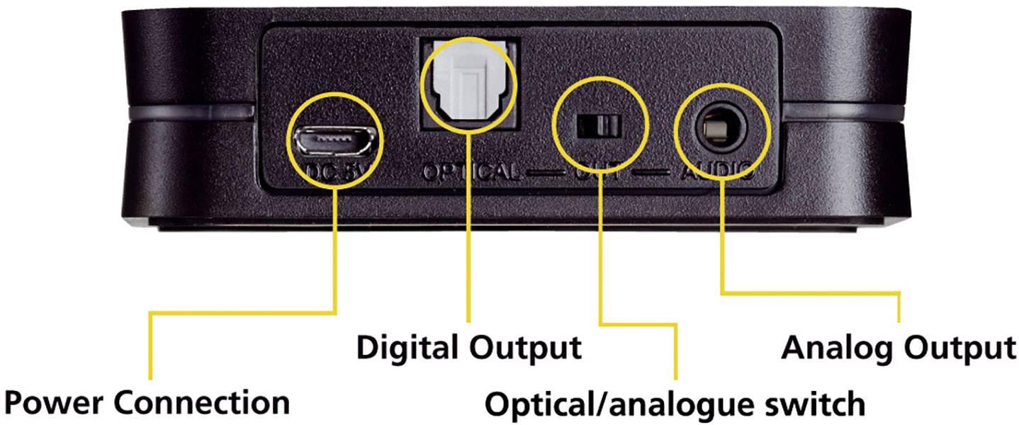 Marmitek BoomBoom 93 Bluetooth® sprejemnik glasbe Bluetooth: 2.0, A2DP, aptX® 30 m aptx-tehnologija, podpira prenos tehn